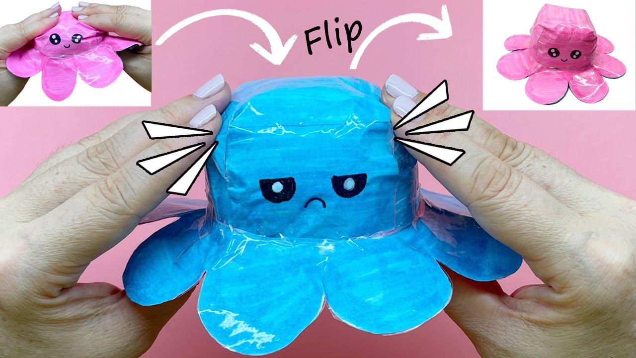 Cách làm Bạch Tuộc Cảm Xúc bằng giấy Hot Trend TikTok   DIY FLIP Paper OCTOPUS   Liam Channel