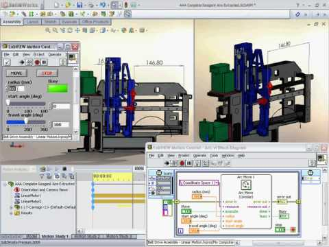 Virtual Prototyping with LabVIEW NI SoftMotion and DS SolidWorks