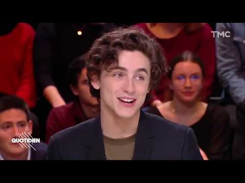 (English Subtitles)Timothée Chalamet SPEAKING FRENCH!! - Quotidien 1/18/2019