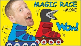 Magic Race + Wheels on the Bus + MORE Stories for Kids from Steve and Maggie | Wow English TV