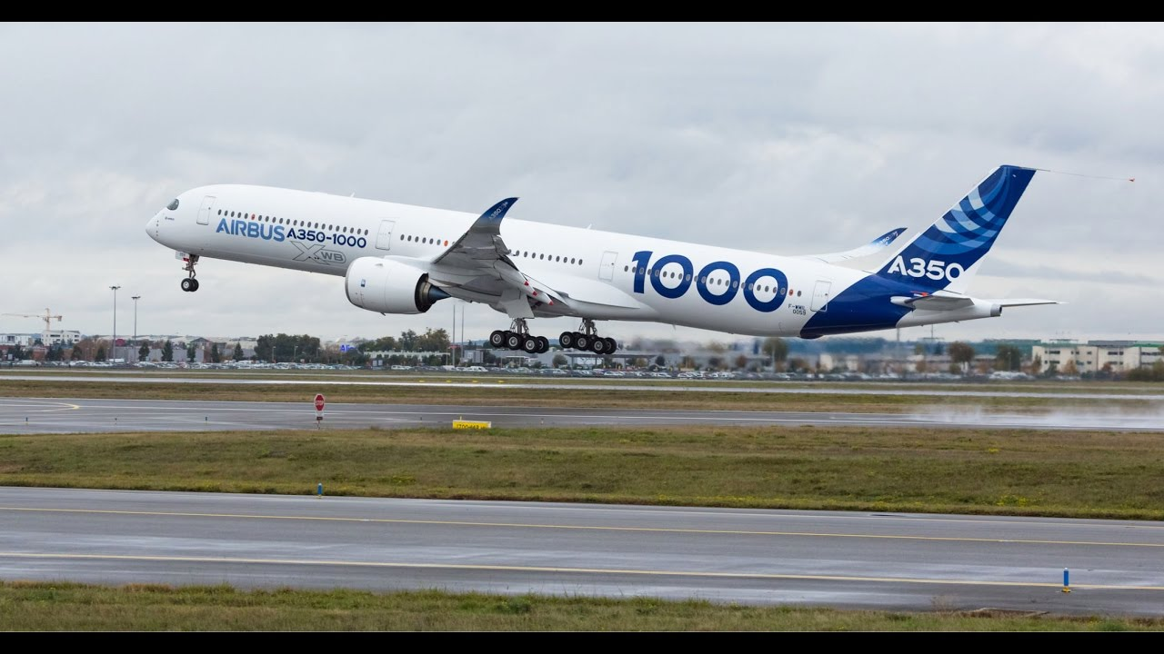 rolls royce first flight of the trent xwb 97 powered airbus a350