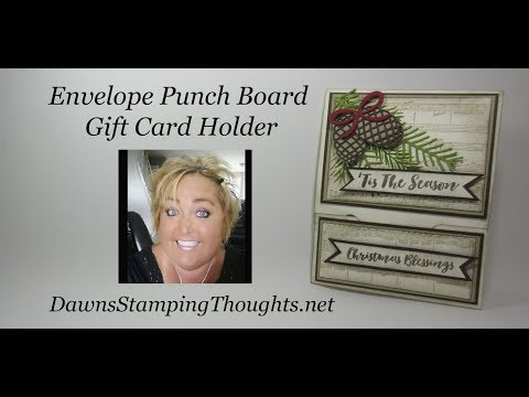 Envelope Punch Board Gift Card Holder for Christmas In July blog hop