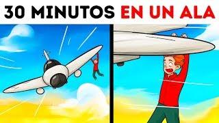 Un hombre sobrevivió después de 30 minutos en el ala de un avión
