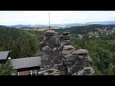 Klettersteig Jonsdorf : Blick vom klettersteig am nonnenfelsen nach jonsdorf youtube