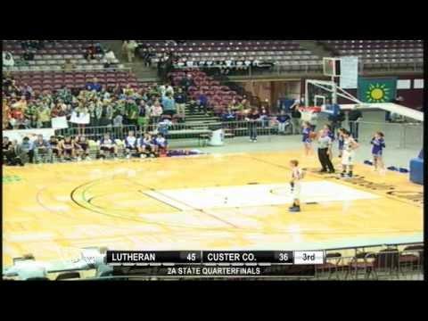 2012 CHSAA Boys Class 2A Quarterfinal - Custer Co Vs Lutheran
