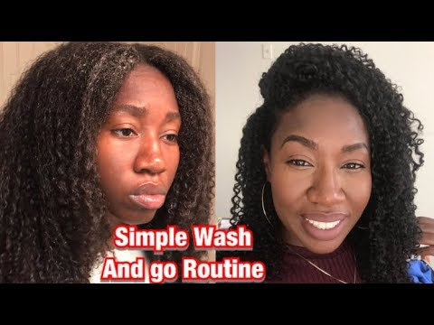 Simple Wash and Go Routine!! (Very Simple) | How To thumbnail