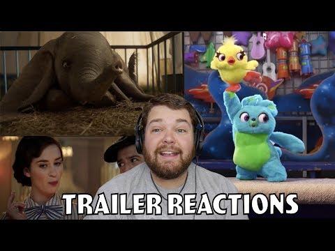 Dumbo Trailer 2/Toy Story 4 Teaser 2/ And Mary Poppins Returns Sneak Peak - Trailer Reactions