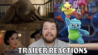 Dumbo Trailer 2/Toy Story 4 Teaser 2/ And Mary Poppins Returns Sneak Peak - Trailer Reactions