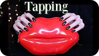 ASMR Tapping Only 💋 (NO TALKING) Vinyl, Cork, Bamboo Wood, Card, Book ~ Fast & Slow w/ Nails ~ 2 Hrs