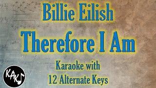 Therefore i am karaoke - billie eilish instrumental lower higher male original key