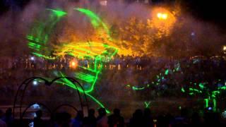 Лазерное шоу на прудах в Хабаровске.MOV