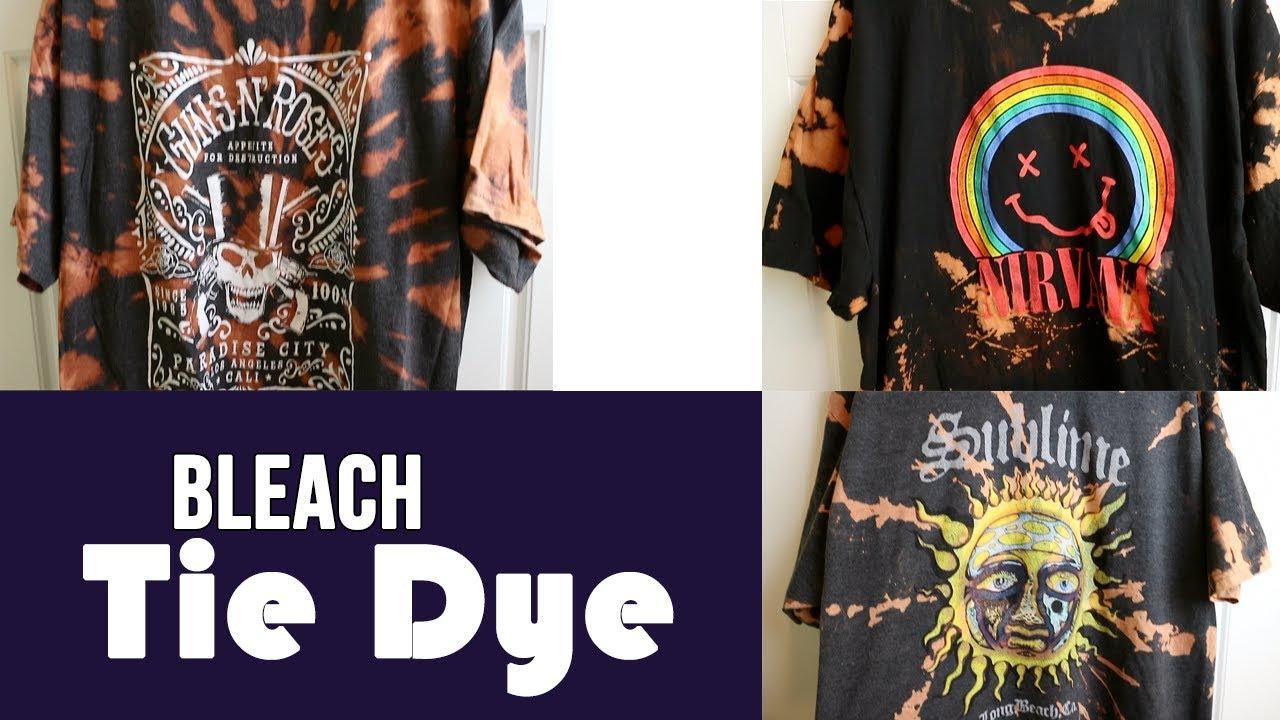 3ebd7493d153a HOW TO BLEACH TIE DYE T-SHIRTS | Easy!