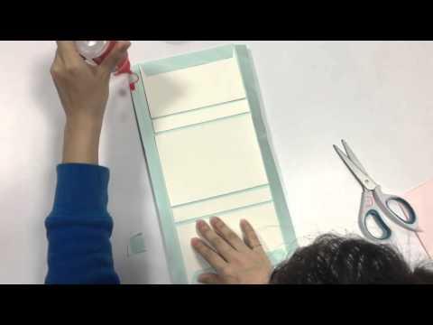 藍色優雅手工書教學Part1 - 外皮製作