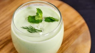 No-Cook Blender Soup: Chilled Cucumber Soup with Greek Yogurt and Herbs