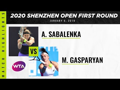 Descargar Video Aryna Sabalenka vs. Margarita Gasparyan | 2020 Shenzhen Open First Round | WTA Highlights