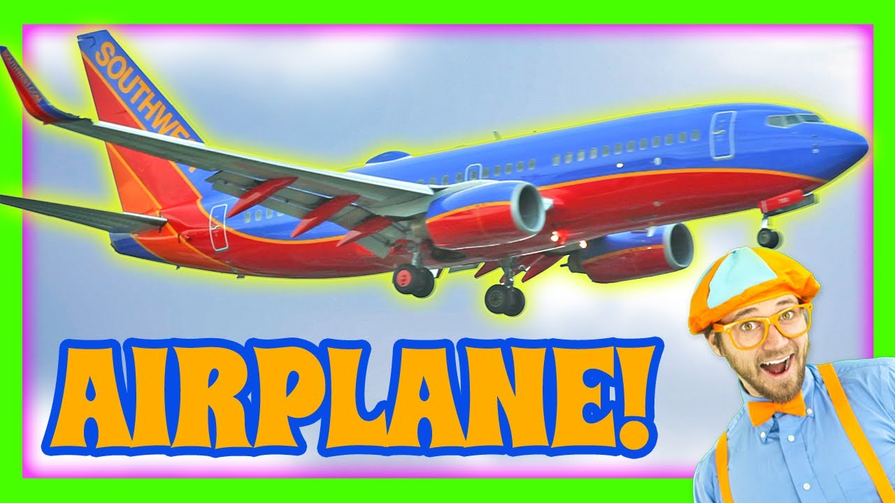airplanes for kids learn colors with blippi youtube - Colour Kid