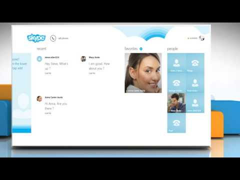 How to Send files and photos over Skype® on a Windows® 8.1 PC
