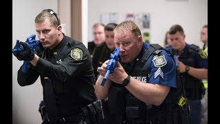 Active Shooter Training at Saginaw Public Health building