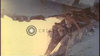 Extensive damage to the bow of HMAS Melbourne (R-21) after colliding with USS Fra...HD Stock Footage