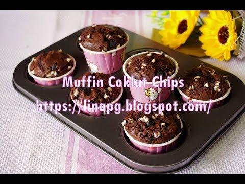 Resepi Muffin Coklat Chips Mudah Dan Sedap Sukatan Cawan Cara Buat Muffin Simple Dan Sedap
