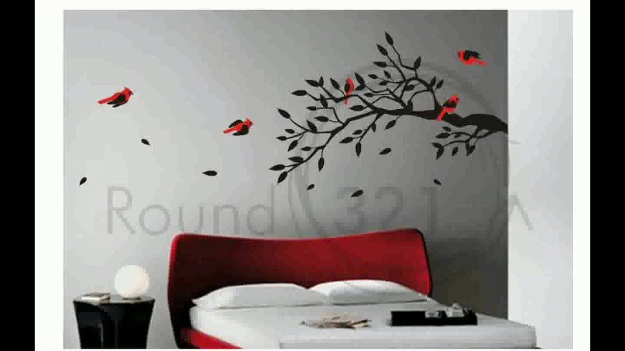 Wall art stickers for living room youtube for Family room wall art