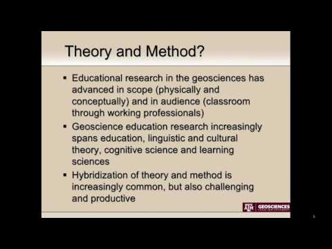 Geoscience education research at the post secondary and professional level