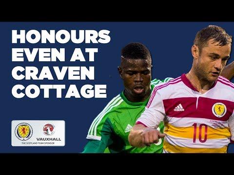 Honours even at Craven Cottage // Nigeria 2-2 Scotland