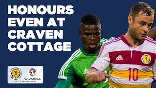 Honours even at Craven Cottage // Nigeria 2-2 Scotland