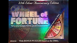 Deluxe Wheel of Fortune 25th Anniversary Silver Edition Board Game Showdown