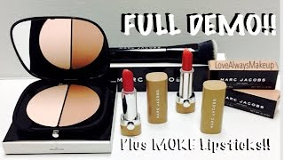 demo marc jacobs contour powder contour brush new nudes lipsticks all new products