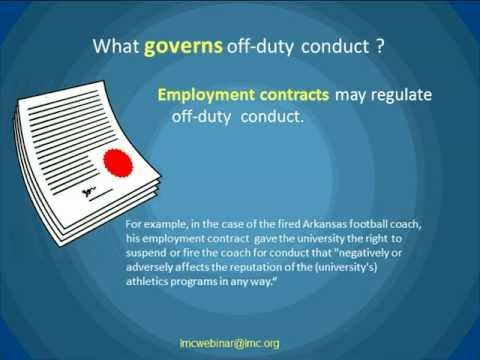 City Employees and Off-Duty Conduct Webinar by Scott Lepak