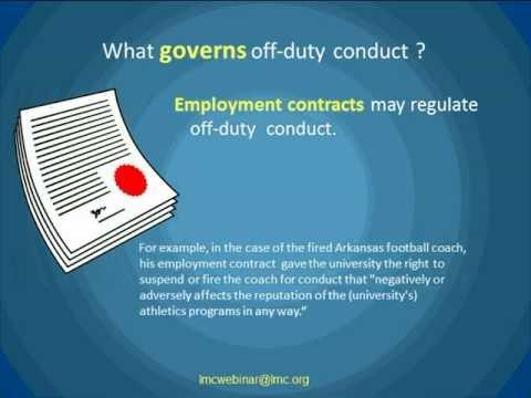City Employees and Off-Duty Conduct Webinar by Scott Lepak