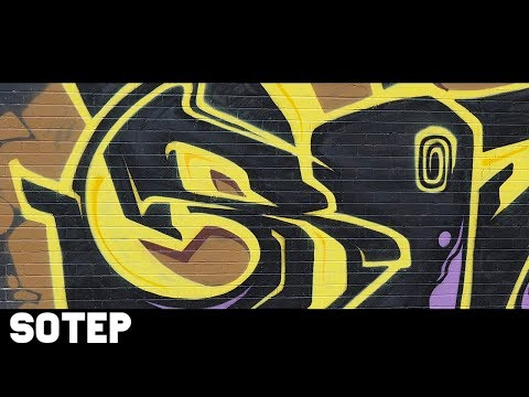 Graffiti  SOTEP  Black and Yellow