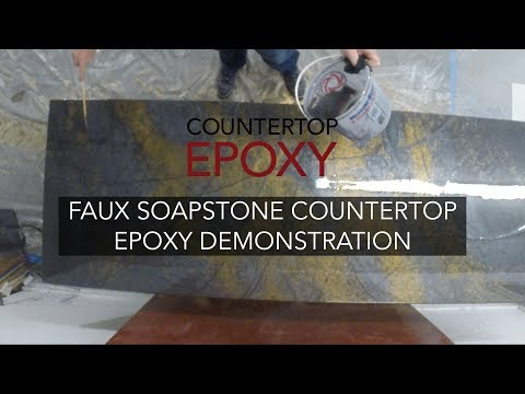 Complete Faux Soapstone Countertop Epoxy Demonstration