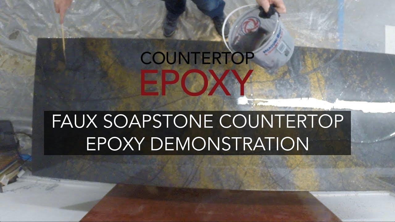 Complete Faux Soapstone Countertop Epoxy Demonstration