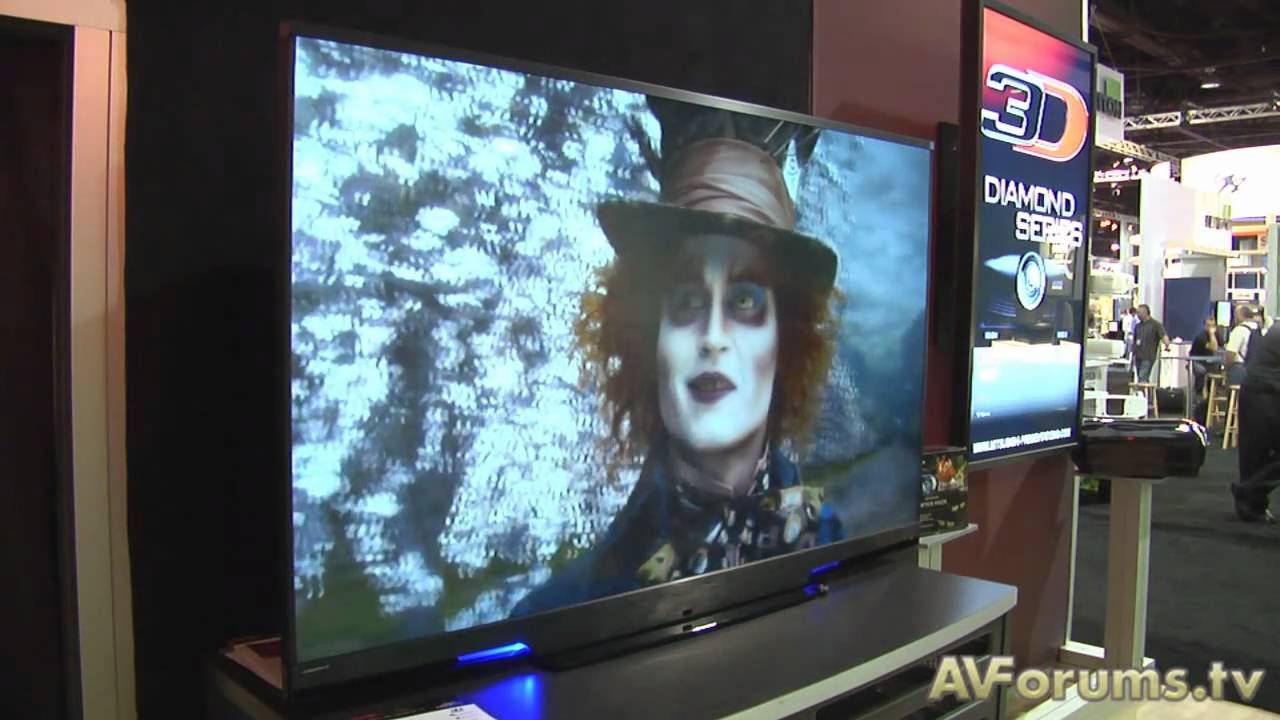 cedia expo 2010 - mitsubishi laservue tv and 3d projector - youtube