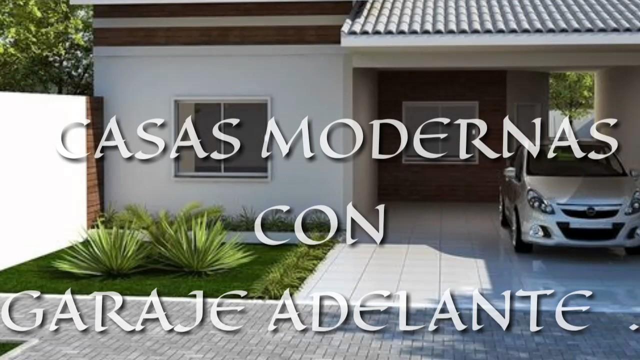 Casas modernas con garaje adelante buenasos youtube - Casas con chimeneas modernas ...
