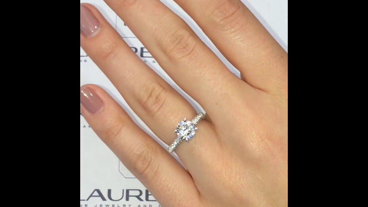 150 Ct Round Diamond Engagement Ring Lauren B Jewelry