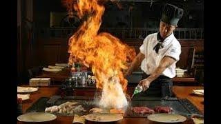 Повар от бога 80 уровень. Кулинарное шоу в японском ресторане.