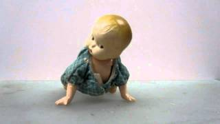 VINTAGE/RARE Crawling Baby Wind up Toy! 1920