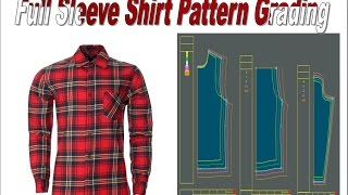 Lectra Modaris Full Sleeve Shirt Pattern and Grading Tutorial (BUFT)