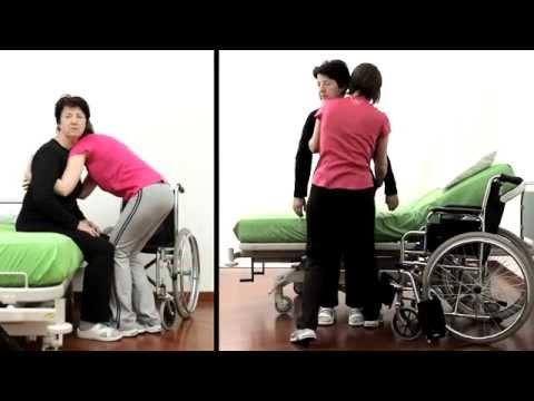 Mobilizzazione da supino a seduto del paziente non coll - Mobilizzazione paziente emiplegico letto carrozzina ...