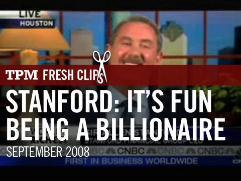 Stanford: Yeah, It's Fun Being a Billionaire