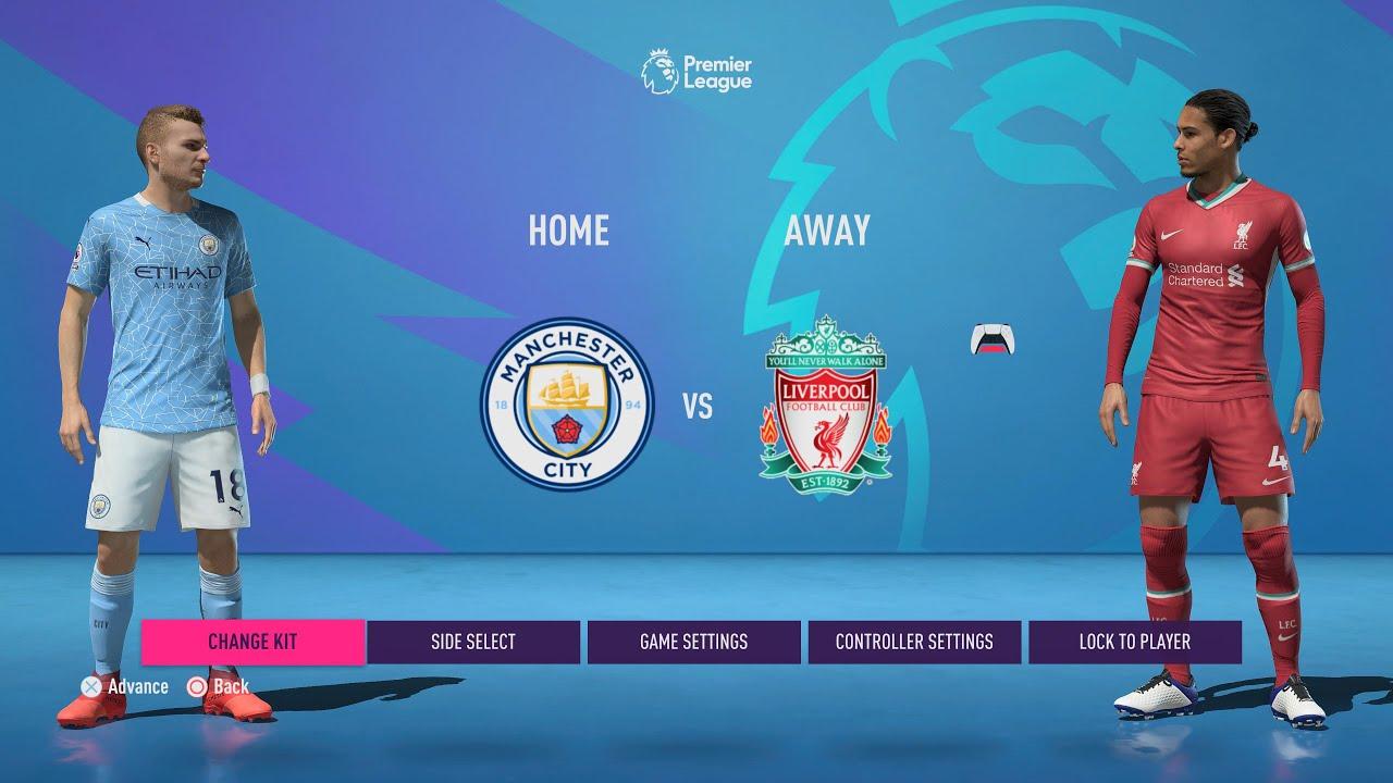 Ps5 Manchester City Vs Liverpool Premier League Fifa 21 22 Youtube