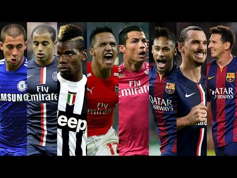 Best Football Skills 2015 ● Ronaldo ● Neymar ● Messi ● Hazard ● Sanchez ● Pogba ● Ibrahimovic HD