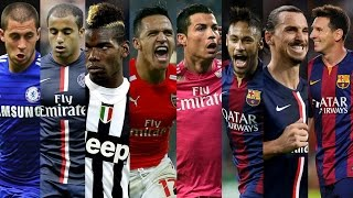 Best Football Skills 2015 ● Ronaldo ● Neymar ● Messi ● Hazard ● Sanchez ● Pogba ● Ibrahimovic HD