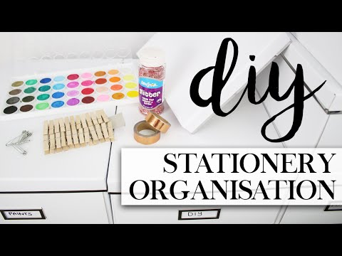 DIY Stationery Supplies Organisation & Storage #TheAugustDaily