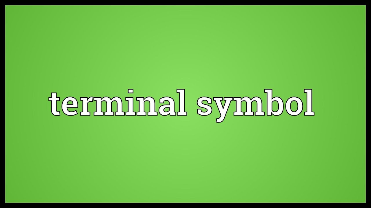 Terminal Symbol Meaning Youtube