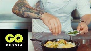 Похмельный завтрак: омлет с овощами