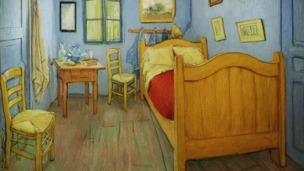 Vincent van Gogh s  Bedroom in Arles    YouTube. The Bedroom Van Gogh Painting. Home Design Ideas